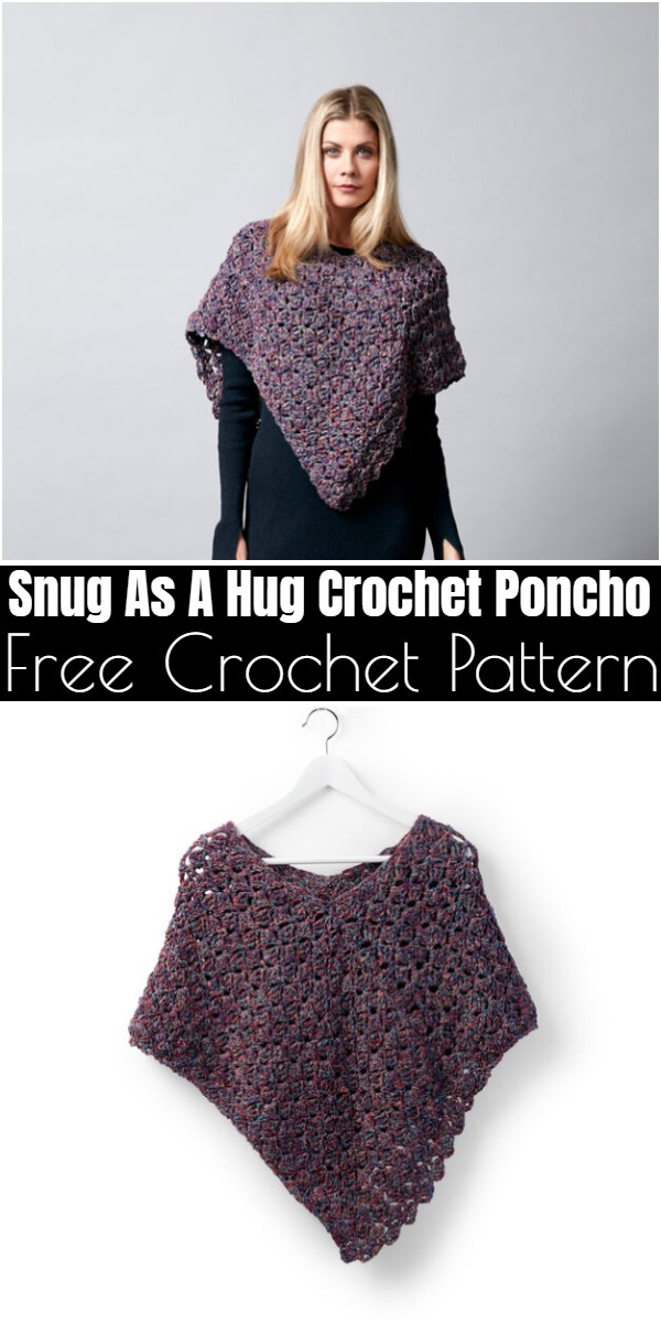Snug As A Hug Crochet Poncho