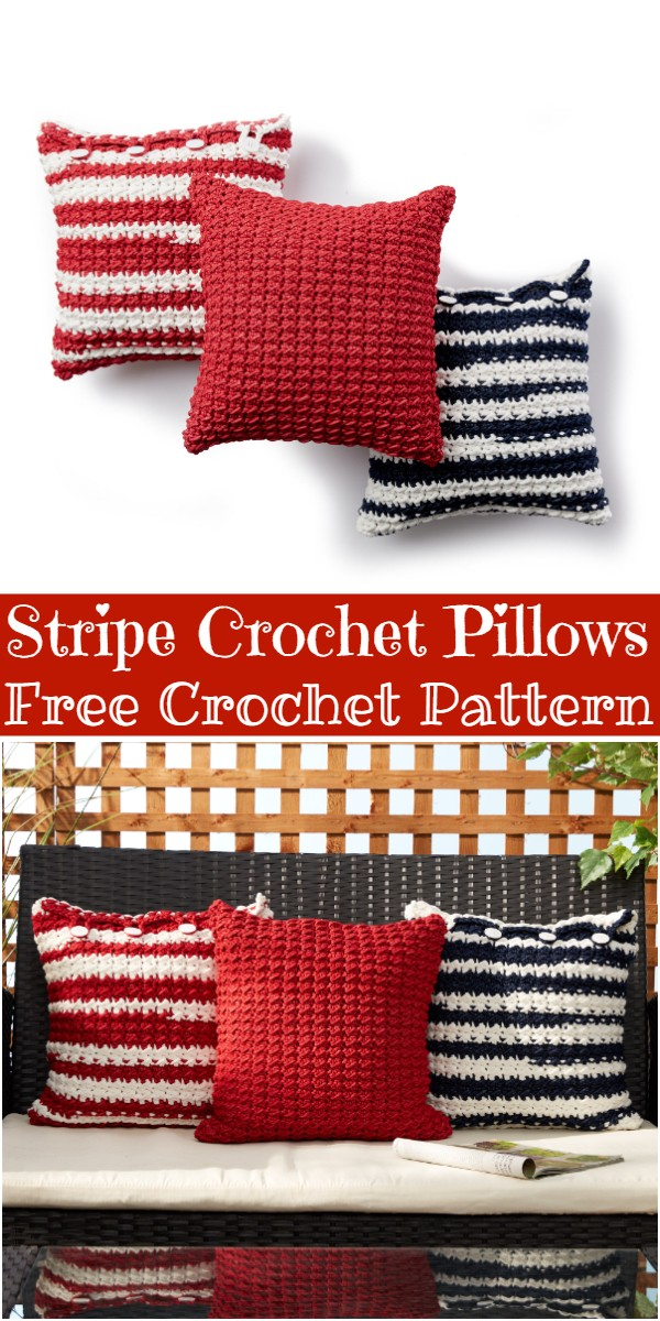 Stripe Crochet Pillows