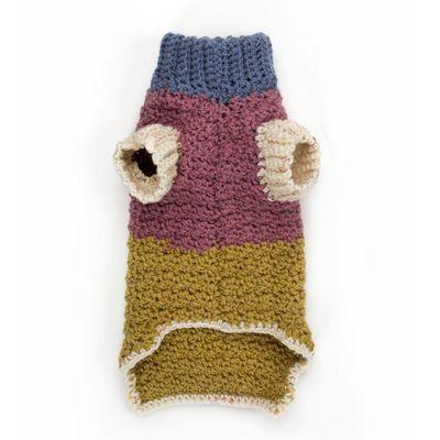 Textured Crochet Dog Coat Free Pattern