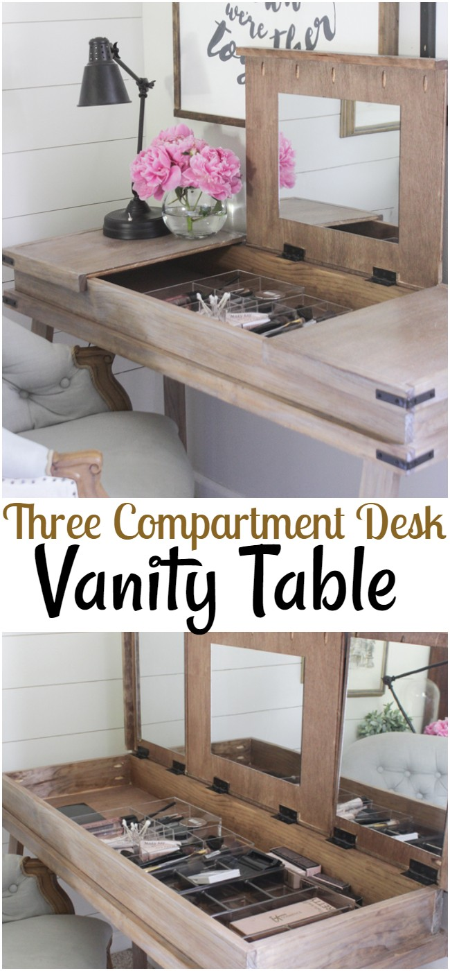 Three Compartment Desk Vanity Table
