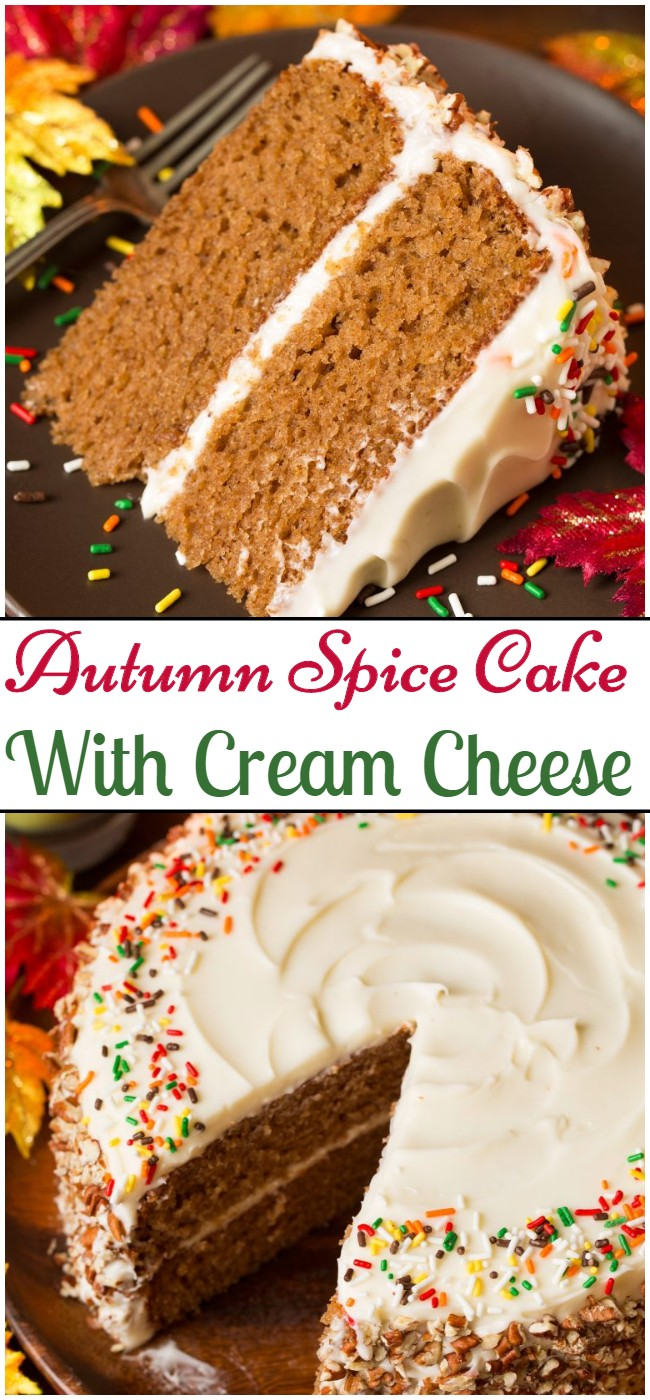 Autumn Spice Cake With Cream Cheese
