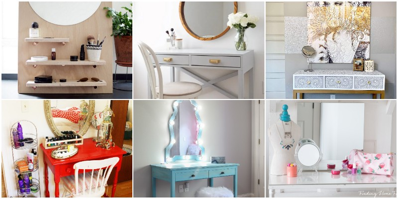 Best DIY Vanity Table Ideas To Store Your Makeup Accessory