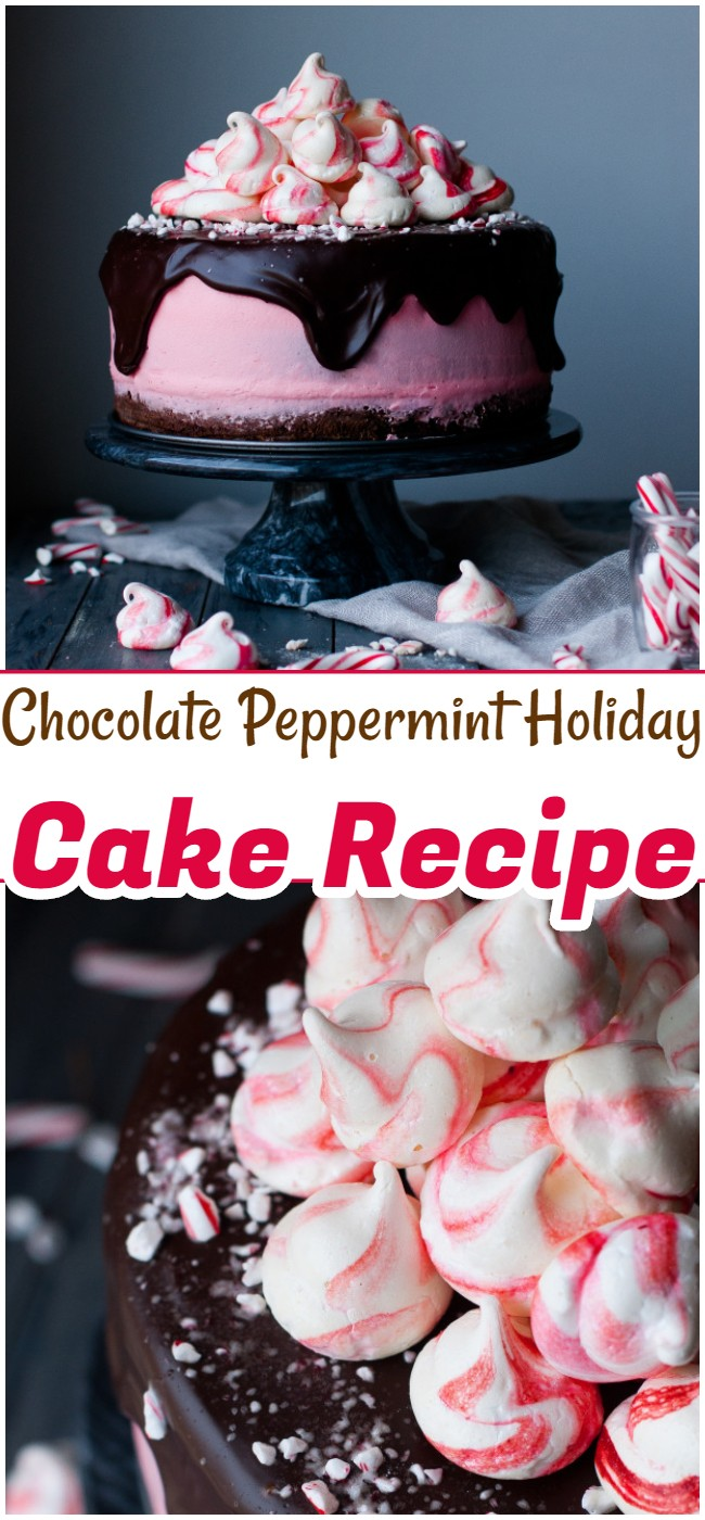 Chocolate Peppermint Holiday Cake Recipe
