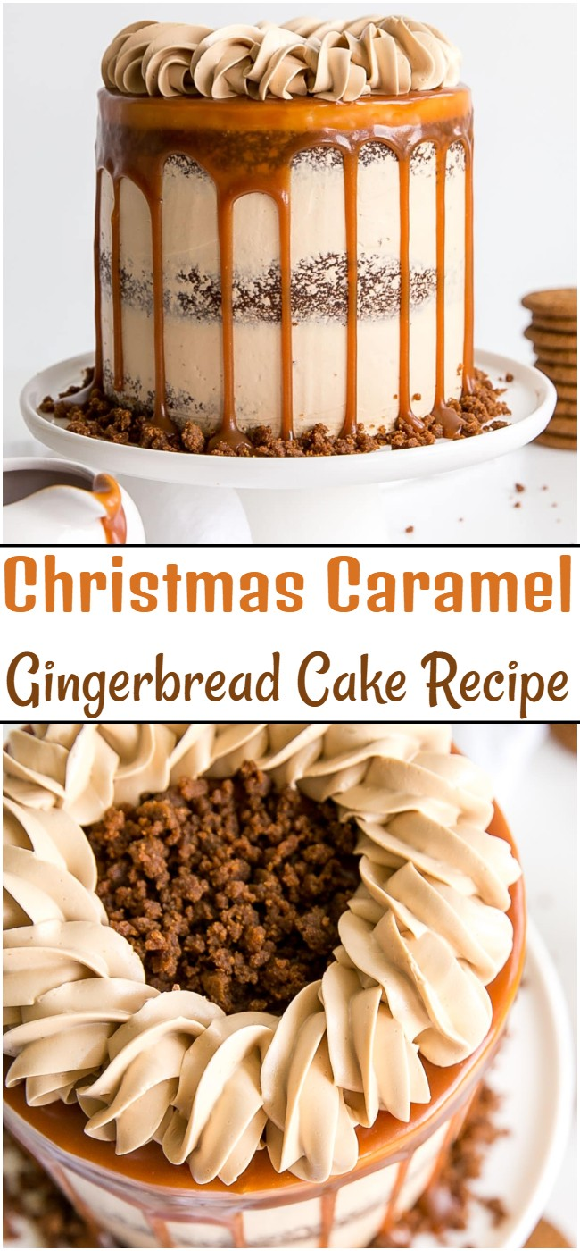 Christmas Caramel Gingerbread Cake Recipe