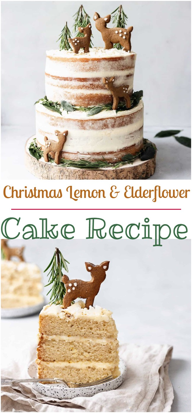 Christmas Lemon & Elderflower Cake Recipe