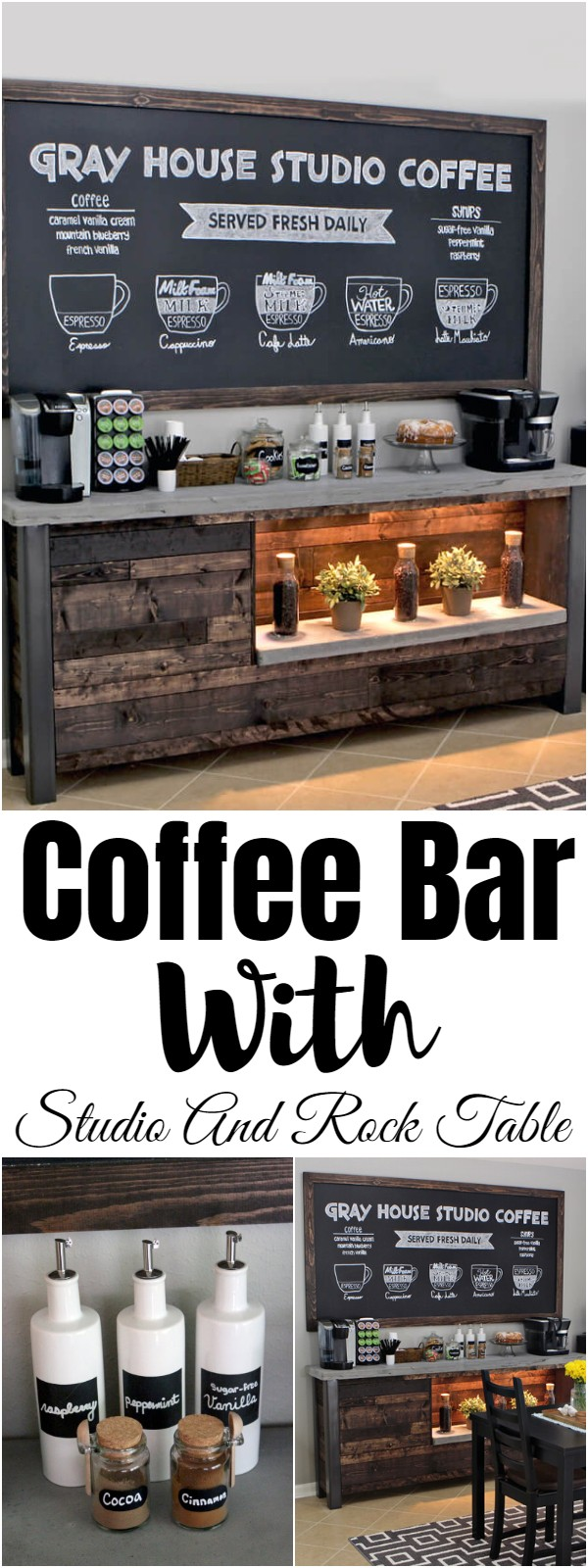 Coffee Bar With Studio And Rock Table