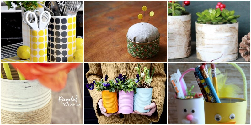 Cute And Clever DIY Tin Can Crafts & Images 1
