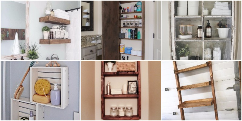 DIY Bathroom Storage Projects To Organize Your Bathroom