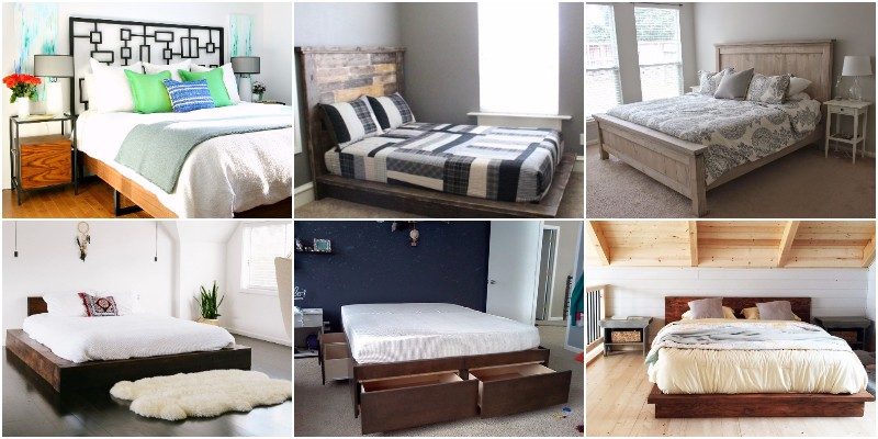 DIY Bed Frame Projects - Sleep In Comfort 1