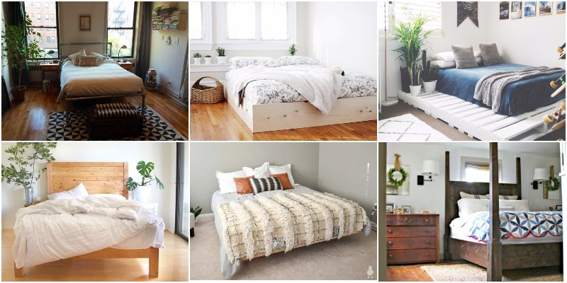 DIY Bed Frame Projects - Sleep In Comfort