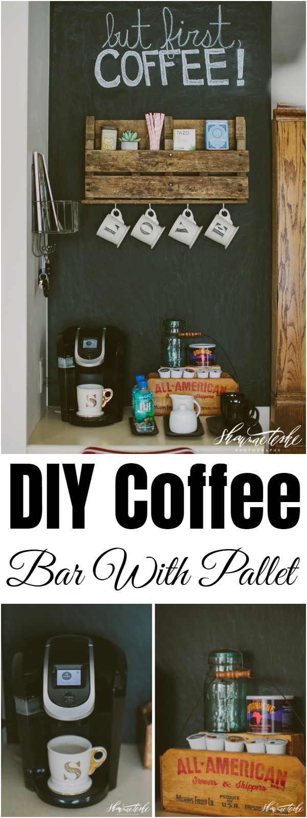 DIY Coffee Bar With Pallet