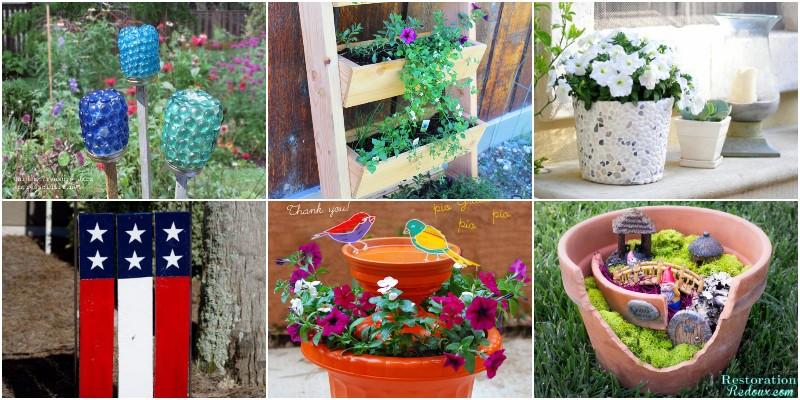 DIY Garden Crafts - Ideas And Designs