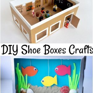 DIY Shoe Boxes Crafts