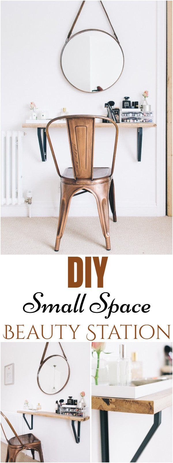DIY Small Space Beauty Station