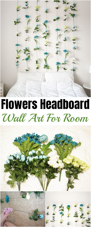 Flowers Headboard Wall Art For Room