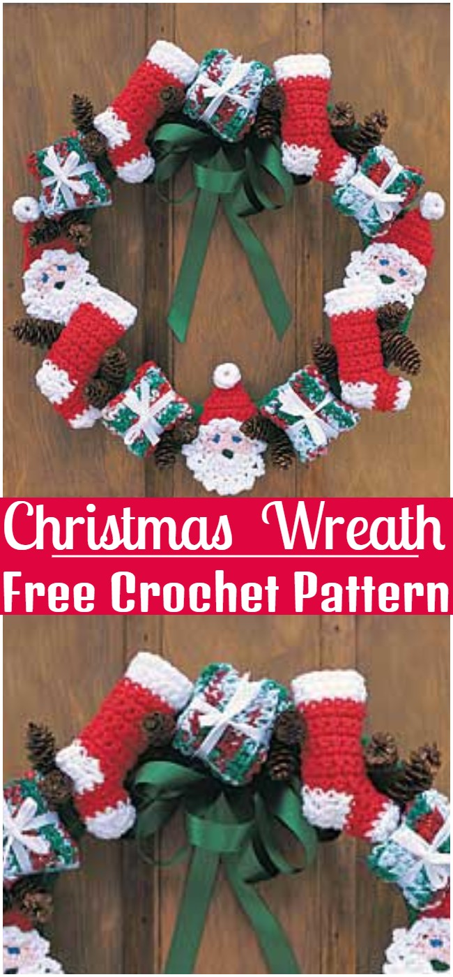 Free Crochet Christmas Wreath Pattern