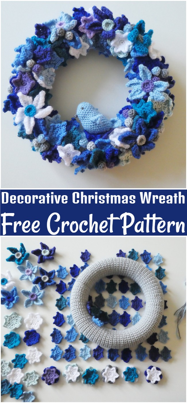 Free Crochet Decorative Christmas Wreath Pattern