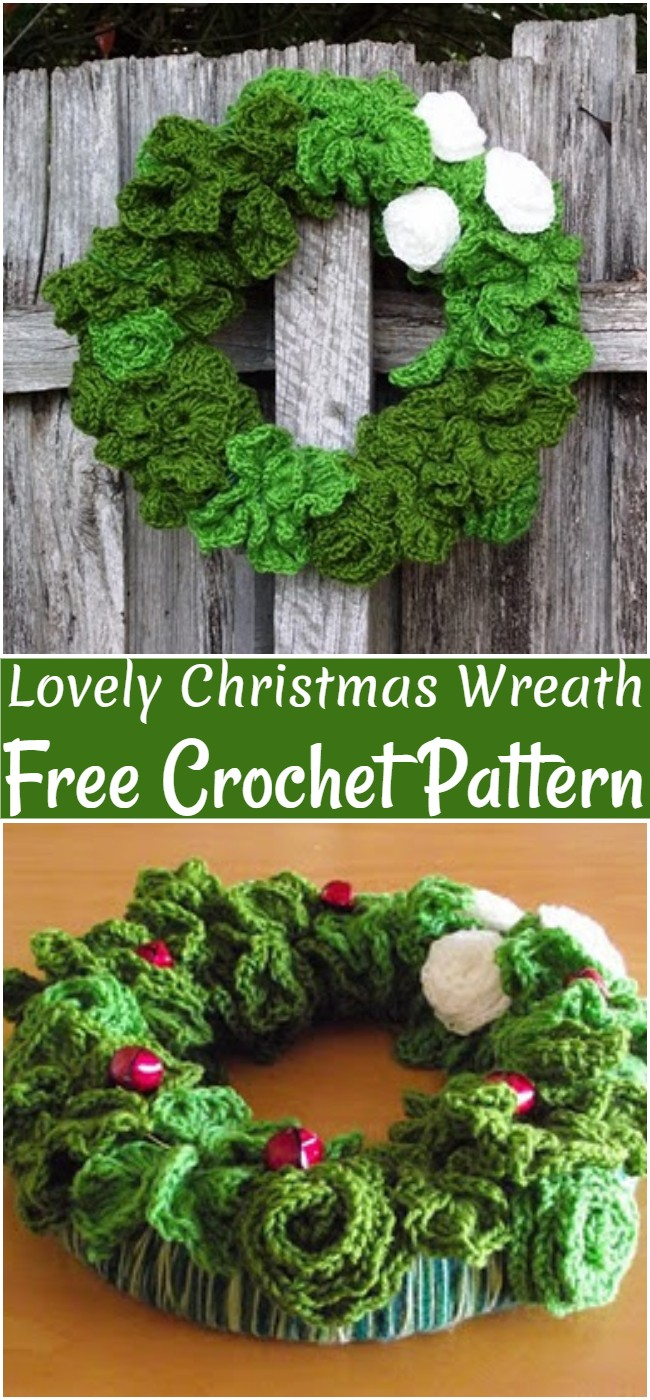 Free Crochet Lovely Christmas Wreath Pattern