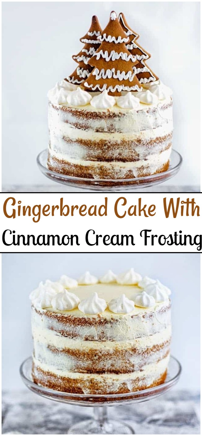 Gingerbread Cake With Cinnamon Cream Frosting