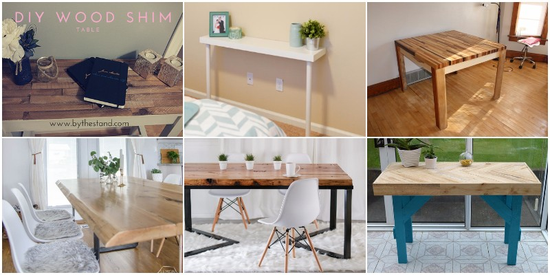 Interesting And Cheap DIY Table Projects And Ideas