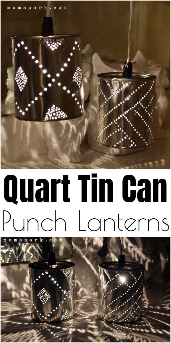 Quart Tin Can Punch Lanterns