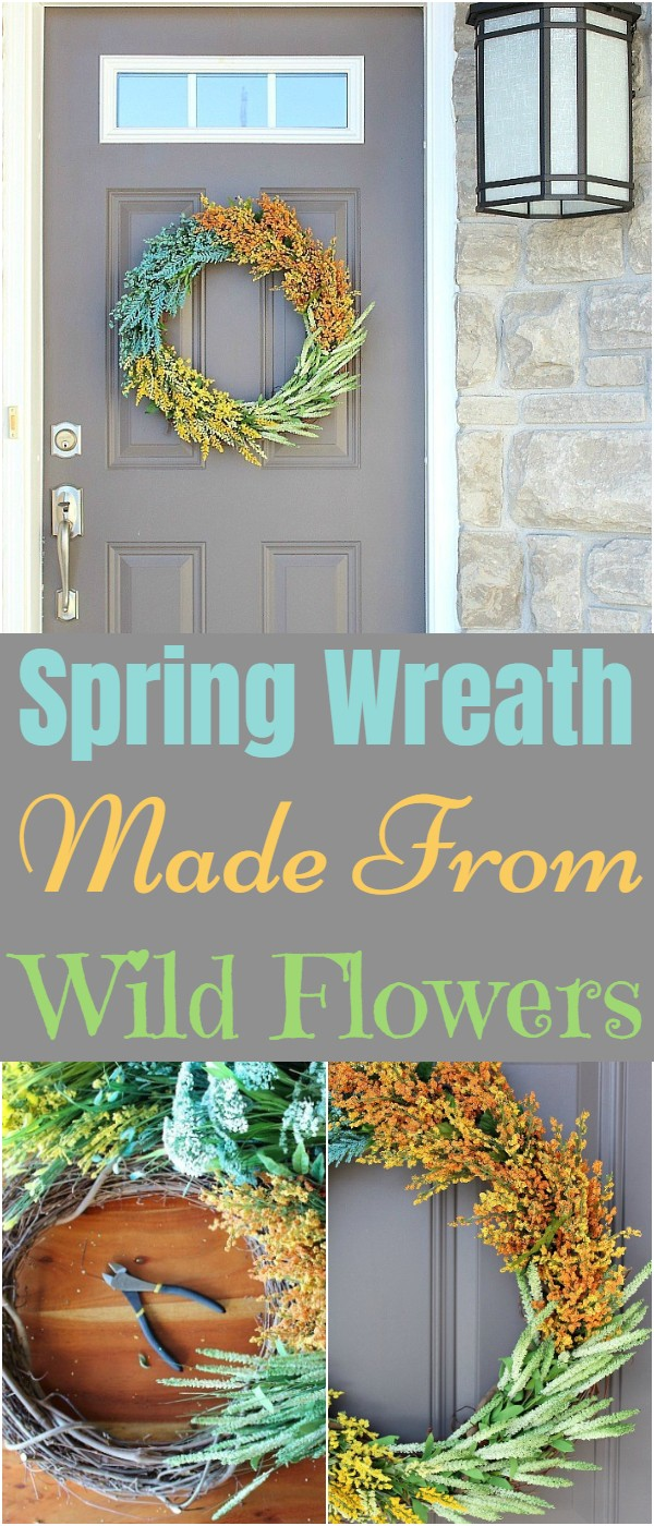 Spring Wreath Made From Wild Flowers
