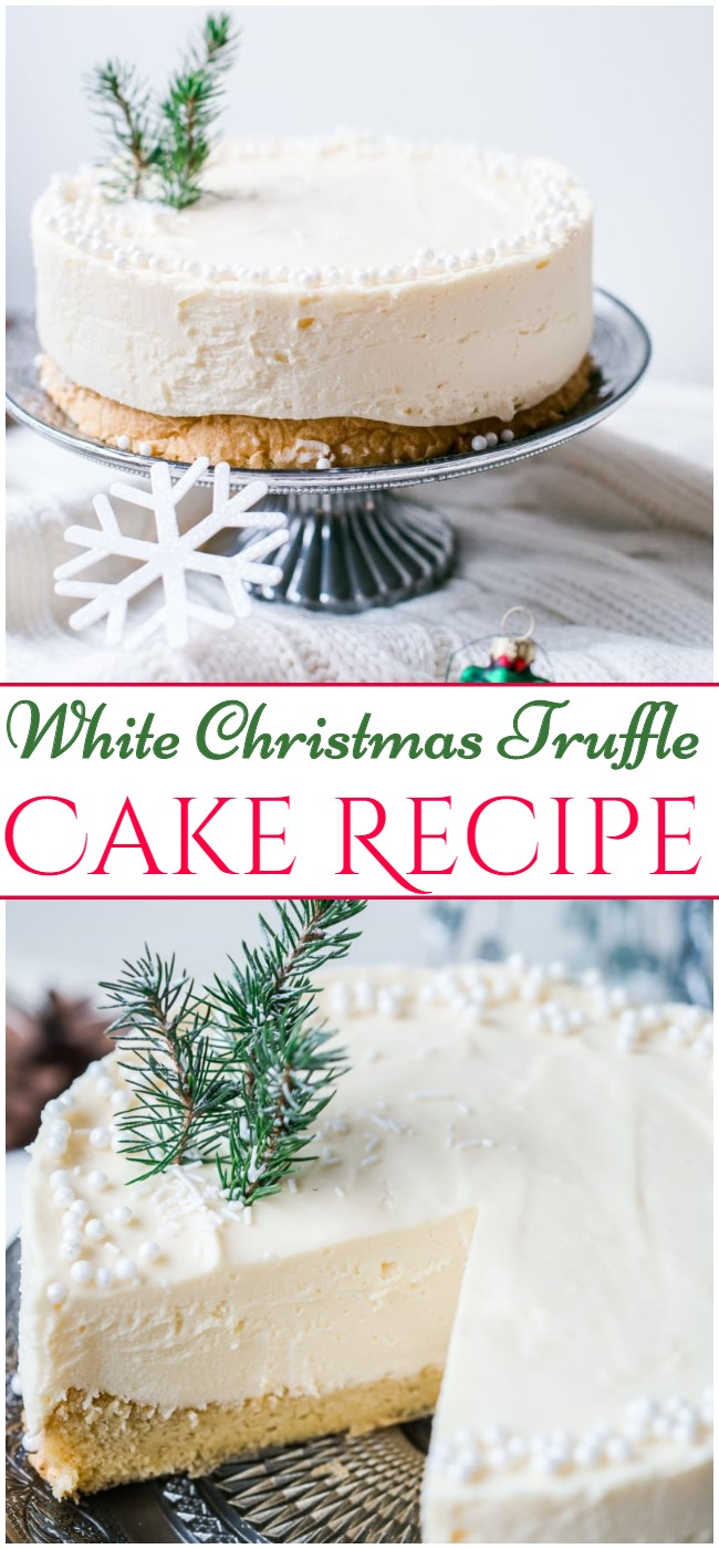 White Christmas Truffle Cake Recipe