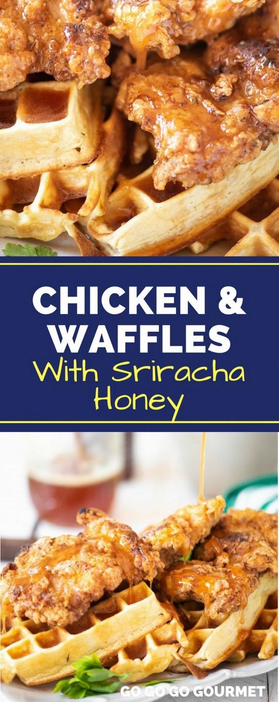 Crispy Chicken And Waffles With Sriracha Honey Recipe