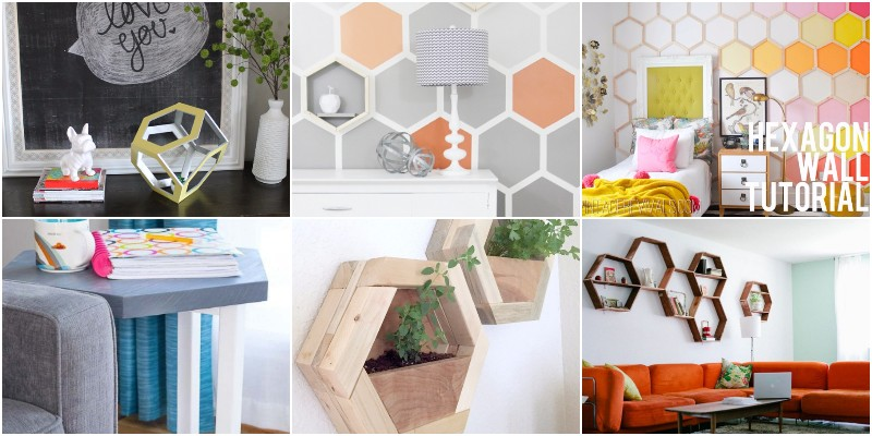 Easy And Cheap DIY Hexagon Projects
