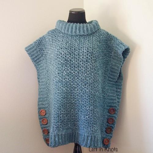 Amelia Poncho Adult Sweater Free Crochet Pattern
