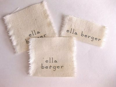 DIY Fabric Label Name Tags