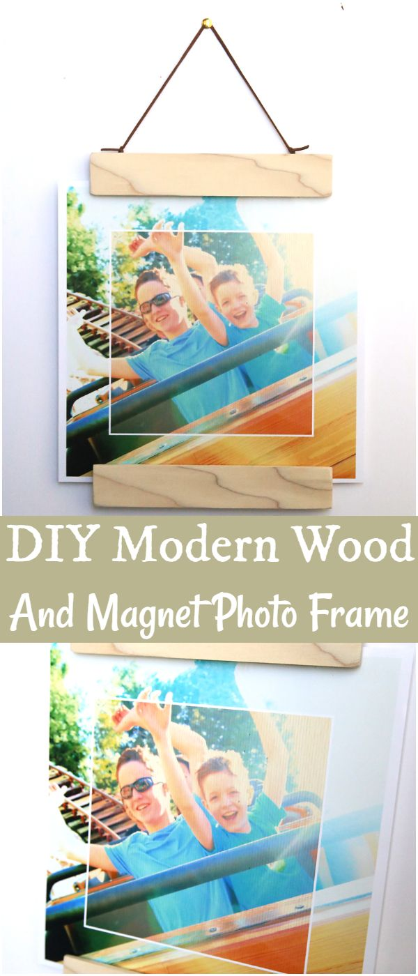 DIY Modern Wood And Magnet Photo Frame