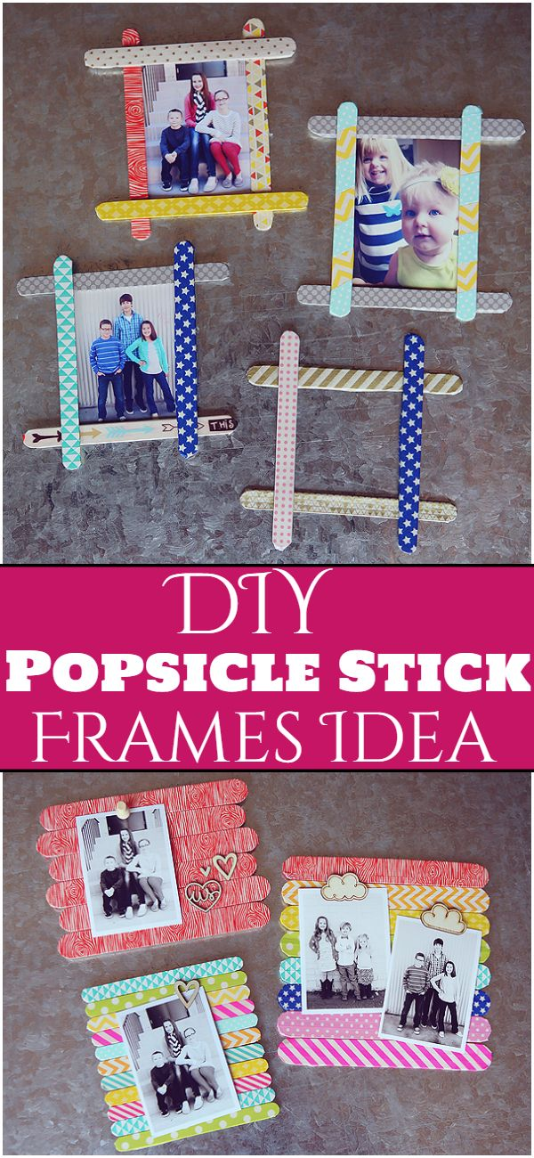DIY Popsicle Stick Frames Idea