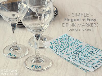 DIY Simple Glitter Drink Markers