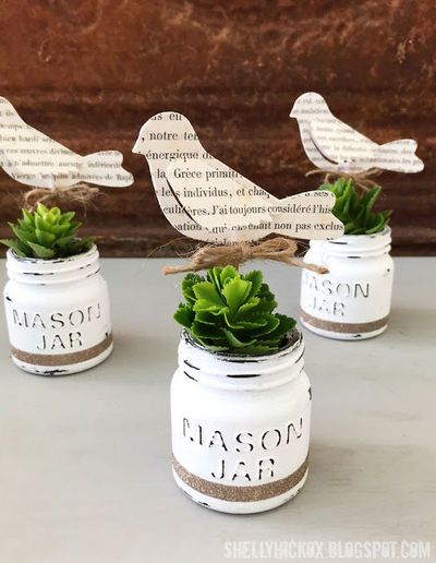 Decoart Chalk Paint Mini Mason Jar Planter