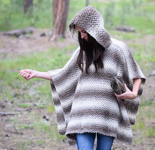 Driftwood Oversized Hooded Pattern
