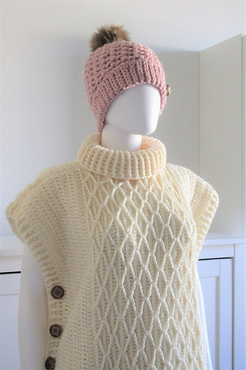 Free Crochet Faux Cable Poncho