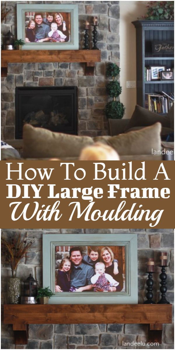 How To Build A DIY Large Frame With Moulding