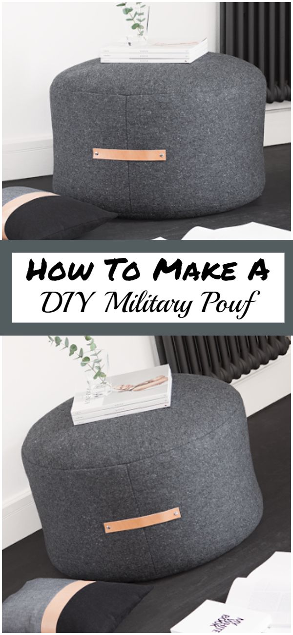 How To Make A DIY Military Pouf
