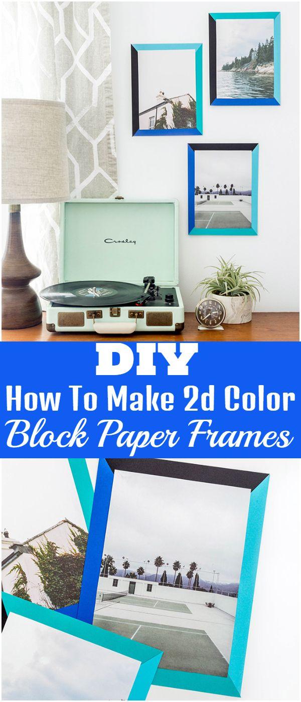 How To Make DIY 2d Color Block Paper Frames