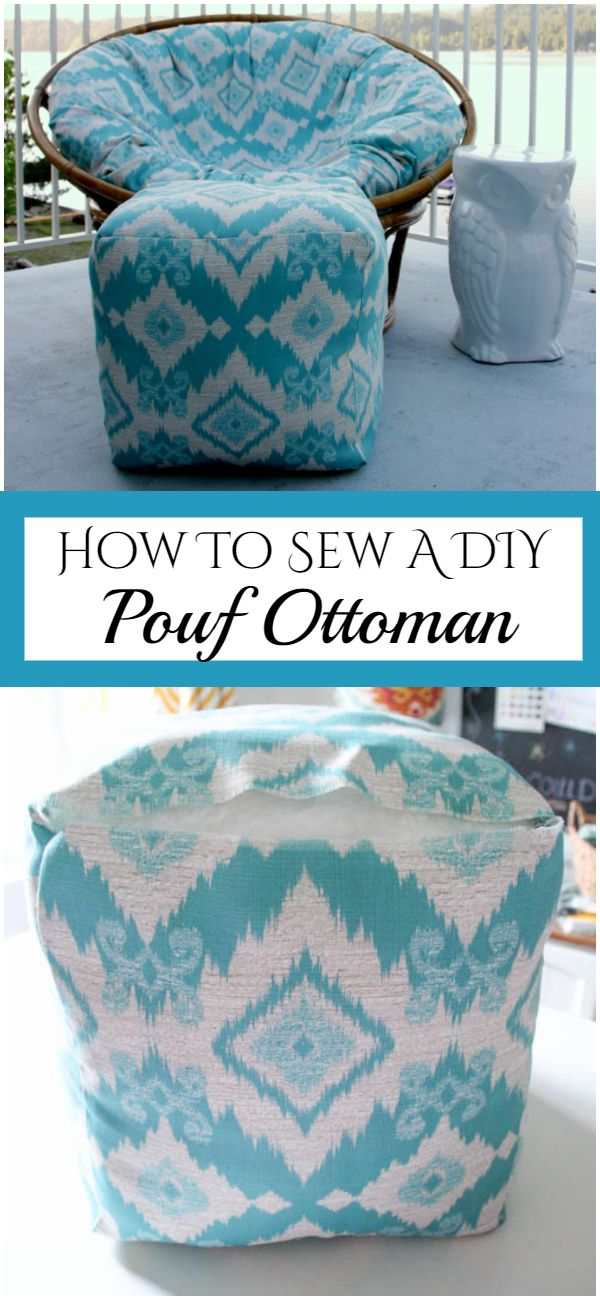 How To Sew A DIY Pouf Ottoman