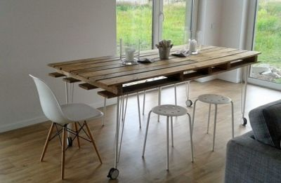 Industrial DIY Pallet Dining Table Idea