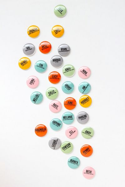 Mini Button Name Tags