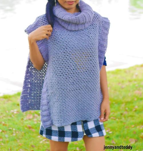 The Beginner Poncho Free Crochet Pattern