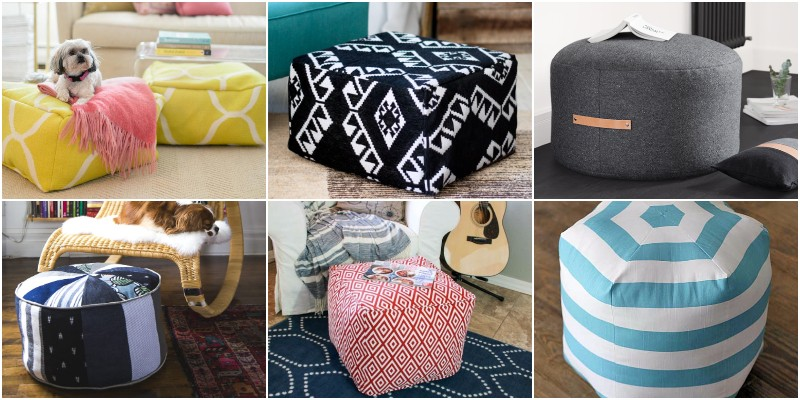 Beautiful And Easy Pouf Ottoman Projects