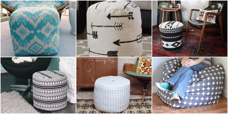 DIY Pouf Ideas - Beautiful And Easy Pouf Ottoman Projects