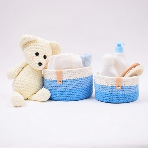Babyroom Storage Crochet Baskets Pattern