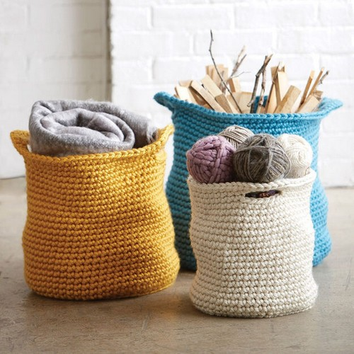 Cache Crochet Baskets Pattern