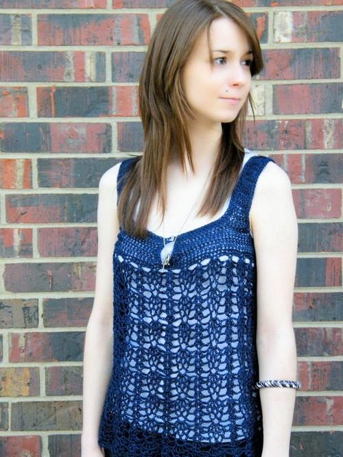 Clarice Sleeveless Down Summer Crochet Top Pattern
