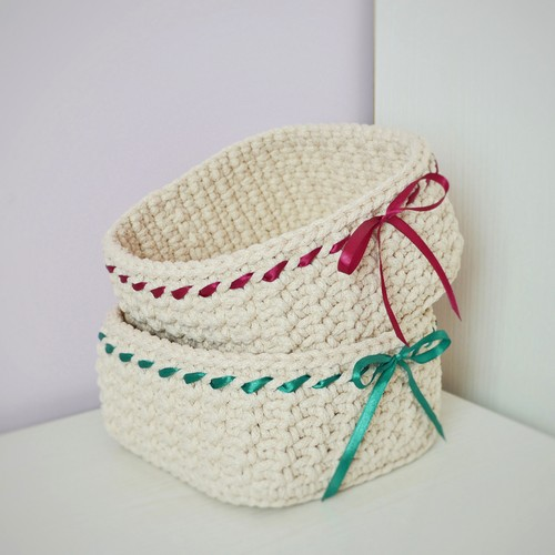 Crochet Basket Candy Pattern